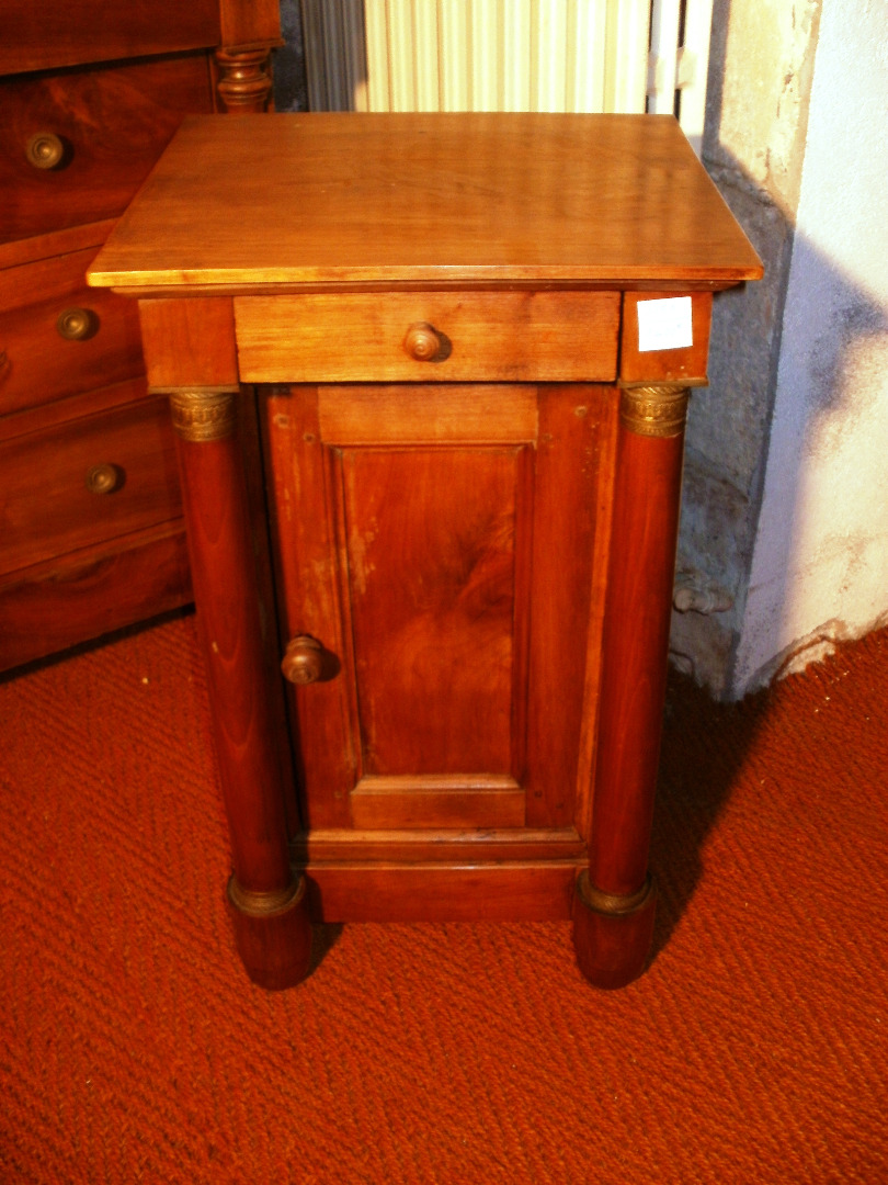 FRENCH EMPIRE STYLE BEDSIDE TABLE