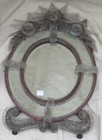 Murano beveled oval two-colour mirror