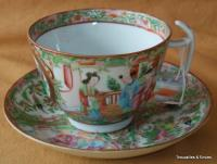 CANTONESE CUPS AND SAUCERS