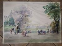 20th C WATERCOLOUR SIGNED GUY FANTOU
