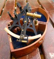 Antique  brass sextant by W.Gerrard, maker to the Royal Navy 19th century,