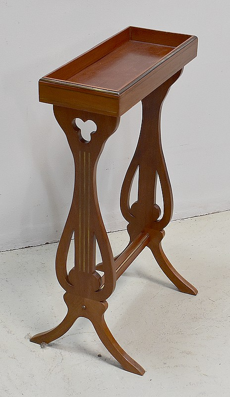 PAIR OF LYRE TABLES