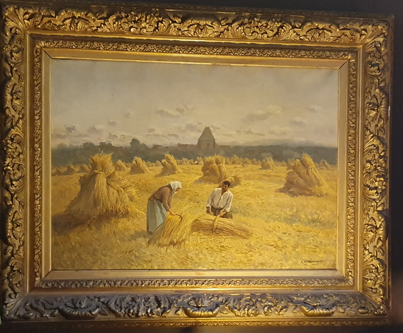 OIL ON CANVAS signed by Charles Ferdinand Ceramano