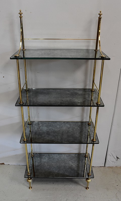 BRASS AND GLASS SHELVES