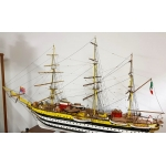 Large Wooden ship's Model   Amerigo Vespucci