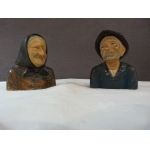 PAIR OF EARTHENWARE BUSTS