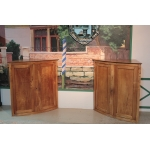 PAIR OF CORNER CUPBOARDS