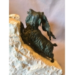 BRONZE IBEXES - BOOKEND