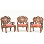 CHINESE STYLE ARMCHAIRS