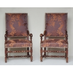 PAIR OF LOUIS XIV PERIOD ARMCHAIRS