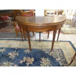 Half Moon Table In Walnut Directoire Period Circa XVIII Eme Rustic Walnut
