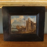 OIL ON PAPER OF FORT ST JEAN, MARSEILLE