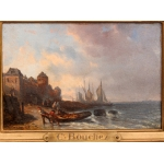 OIL ON PANEL signed Charles BOUCHEZ (1811-1882)