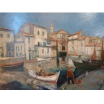 OIL ON PANEL OF MARTIGUES