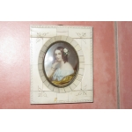 MINIATURE IN IVORY FRAME