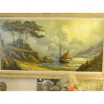 Grande Marine Circa 1950 Bright Colors oil painting on canva