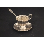 SILVER CUP AND SAUCER