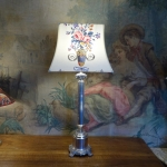 SILVER PLATE LAMP