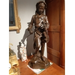 BRONZE SCULPTURE SIGNED L GREGOIRE