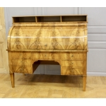 FRENCH RESTAURATION PERIOD CYLINDER TOP DESK
