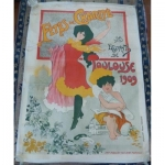 Large Poster Art Nouveau Period Charity Party Of Students Toulouse 1909 Paul Dupuy Museum