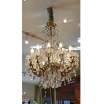 """Baccarat Crystal Chandelier With 12 Lights Circa 1950."""