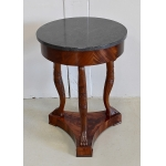 FRENCH EMPIRE STYLE PEDESTAL TABLE