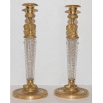 PAIR OF CHARLES X PERIOD CANDLESTICKS