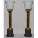 PAIR OF ART DECO PERIOD LAMPS