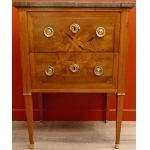 A 18Th century chest of drawers Louis XVI period opening b two drawers