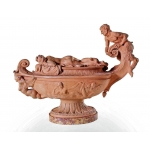 EARTHENWARE BASIN ATTRIBUTED TO CLODION