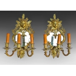 PAIR OF NAPOLEON III PERIOD WALL LIGHTS