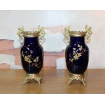 PAIR OF LUNEVILLE PORCELAIN VASES
