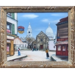 GAZI Le Tatar Montmartre Oil on canvas signed and situated