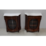 PAIR OF NAPOLEON III PERIOD DISPLAY CABINETS