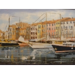 OIL ON CANVAS OF SAINT TROPEZ