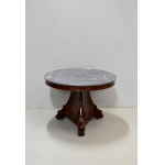 FRENCH EMPIRE PERIOD PEDESTAL TABLE