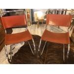 Ludwig Mies Van der Rohe 2 chairs Model MR 10