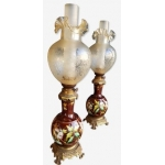 PAIR OF ART NOUVEAU PERIOD LAMPS