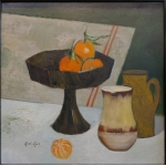 "René GENIS (1922-2004)  ""Still life with mandarins"""
