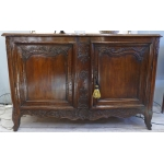 Sideboard Buffet 18Th century decorated with mouldings opening by two doors