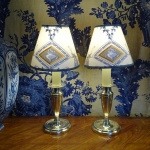 PAIR OF SMALL LAMPS