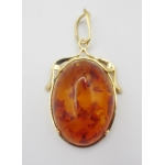 GOLD AND AMBER PENDANT
