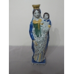 FAIENCE STATUETTE OF THE VIRGIN MARY