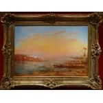 Duvieux Henri French School Painting Orientalist 19Th Constantinople Sunny Oil Signed