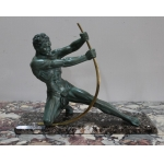 ART NOUVEAU PERIOD SPELTER SCULPTURE