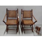 PAIR OF FOLDING ARMCHAIRS