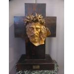 EARTHENWARE HEAD OF CHRIST BY ALBERT FIGAY