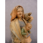 EARTHENWARE MOTHER AND CHILD