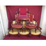 SUITE OF SIX CHARLES X PERIOD ARMCHAIRS